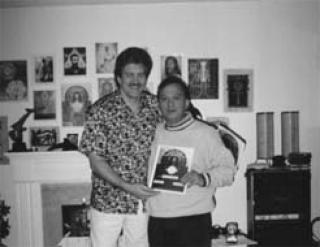 Paul Hubbert and Ricardo B Serrano in Holographic Sound Healing workshop, August 5, 2001 Vancouver, BC