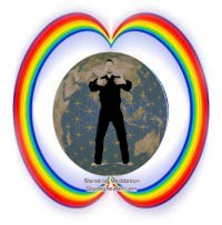 Rainbow Bridge around Qigong practitioner